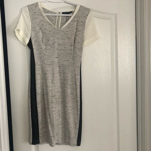Dynamite Sz S Space Grey with Black Detail Dress